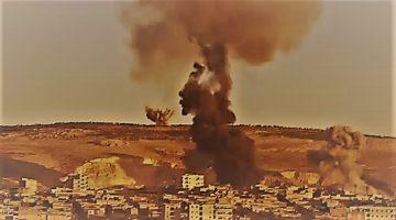 Turkish War Planes Bomb Afrin in Syria